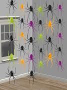 6 Deko-Hänger Spinnen 210 cm