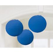 3 Lampions royalblau 20,4 cm