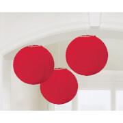 3 Lampions rot 20,4 cm