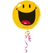Standard Smiley Folienballon S60 verpackt 43 cm