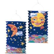 Amscan Zuglaterne Sonne oder Mond 28cm schwer entflammbar, sortiert
