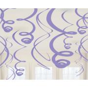 12 Deko-Spiralen lila 55,8 cm