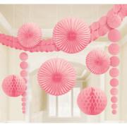 Damast-Dekoset rosa
