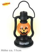 FRIES - Deko Lampe Halloween, blinkend, 11 cm, Bat. enthalten