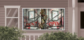 Plastik-Banner Zombies horizontal 160 x 85 cm