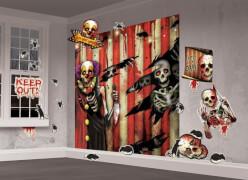 32-tlg. Wanddekoset Creepy    Carnevil, 2 Poster: 82x165 cm,30 Cutouts zwischen 10 & 38 cm