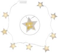 Konfetti-Lichterkette Sterne Schöne Weihnachtszeit!