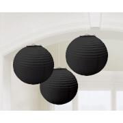 3 Lampions schwarz 20,4 cm