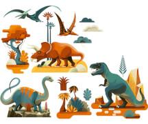 Fensterbilder: Dinosaurier