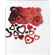 Konfetti ausgestanzte Herzen metallic 14 g