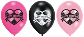 6 Latexballons High School Birthday 22,8 cm/9''