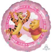 Standard HX Pooh It's a Girl Folienballon, S60, verpackt, 45 cm