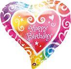 Standard Watercolour Birthday Folienballon S40 verpackt