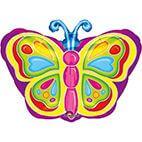 Junior Shape Strahlender      Schmetterling Folienballon S50verpackt