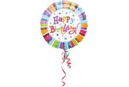 Standard Radiant Birthday Happy Birthday Folienballon S55 verpackt