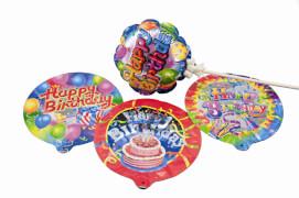 Ballon Happy Birthday selbstaufblasend