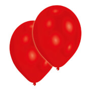 50 Latexballons Standard rot 25,4 cm/10''