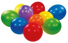 100 Latexballons Standard sortiert 17,8 cm / 7''