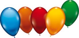 Ballons rund 20 Stück sortiert,Umfang 60-70cm