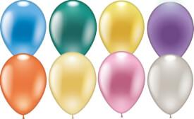 Ballons rund perlmutt 8 Stück, Umfang 75-80 cm