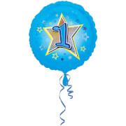 Standard Blaue Sterne 1 Folienballon S40 verpackt 43 cm