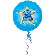 Standard Blaue Sterne 2 Folienballon S40 verpackt 43 cm