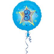 Standard Blaue Sterne 3 Folienballon S40 verpackt 43 cm