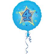 Standard Blaue Sterne 4 Folienballon S40 verpackt 43 cm