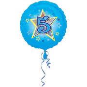 Standard Blaue Sterne 5 Folienballon S40 verpackt 43 cm