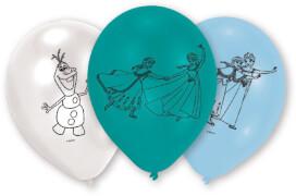6 Latexballons Frozen 22,8 cm/9''