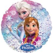 Amscan Disney Frozen Folienballon S60, Elsa und Anna, rund