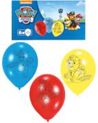 6 Latexballons Paw Patrol 23 cm