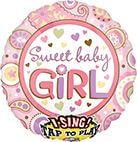 Sing-A-Tune Sweet Baby Girl Folienballon P60 verpackt