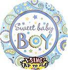 Sing-A-Tune Sweet Baby Boy Folienballon P60 verpackt