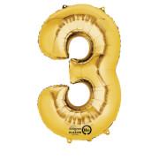 SuperShape 3 gold Folienballon P50 verpackt 53 x 88 cm