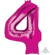 SuperShape 4 pink Folienballon P50 verpackt 66 x 88 cm
