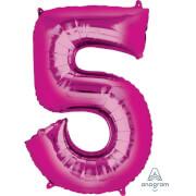SuperShape 5 pink Folienballon P50 verpackt 58 x 86 cm