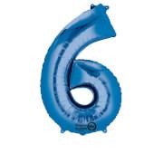 SuperShape 6 blau Folienballon P50 verpackt 55 x 88 cm