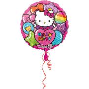 Standard Hello Kitty Regenbogen Folienballon S60 verpackt 43 cm