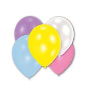 10 Latexballons Perlmutt farblich sortiert, 27,5 cm/11