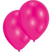 10 Latexballons Standard hot pink 27,5 cm/11''