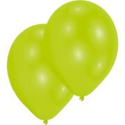 10 Latexballons Standard limonengrün 27,5 cm/11''