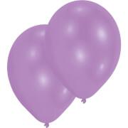 10 Latexballons Standard violett 27,5 cm/11''