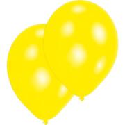 10 Latexballons Standard gelb 27,5 cm/11''