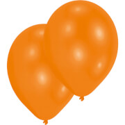 10 Latexballons Standard orange 27,5 cm/11''