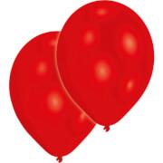 10 Latexballons Standard rot 27,5 cm/11''