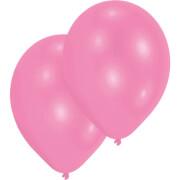 10 Latexballons Standard pink 27,5 cm/11''