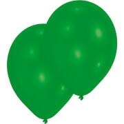 10 Latexballons Standard grün 27,5 cm/11''