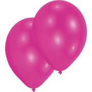10 Latexballons metallic magenta 27,5 cm/11''