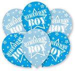 6 Latexballons Globaldruck Birthday Boy 27,5 cm/11''